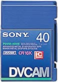 Sony PDVM-40ME Mini DVCAM Metal Evaporated Component Digital Video Tapes With IC Memory Chip