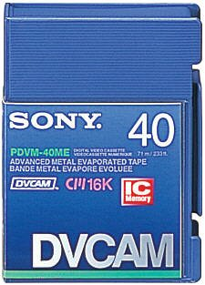 Sony PDVM-40ME Mini DVCAM Metal Evaporated Component Digital Video Tapes With IC Memory Chip by Sony