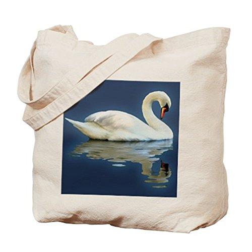 CafePress diseño de cisne refleja–Gamuza de bolsa de lona bolsa, bolsa de la compra
