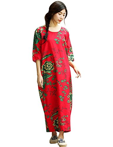Robe Style Youlee Poches Femmes 1 Manches Floral 3 Rough Latrales 4 Apn0aq