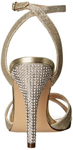 mujer Platino de escarcha correa US Meryly la Nina Sandalia tobillo de wtzqX