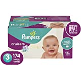 Diapers Size 3, 174 Count - Pampers Cruisers Disposable Baby Diapers, ONE MONTH SUPPLY