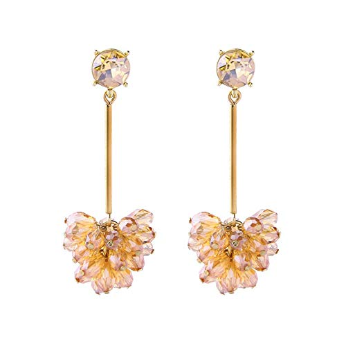 - Black&Amp;Yellow Glass Grape Bunches Drop Earrings for Won Party Gifts 2019 New Dangle Earring Fashion Jewelry Accessories (Yellow)