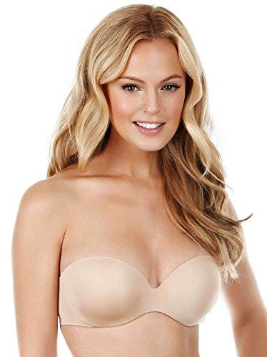 Felina Women's Body luxe Strapless Bra, Warm Nude, 32C