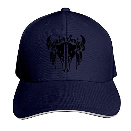 NNaseg Adjustable Peaked Cap,Cool Tribal Cattle Skull Warrior Funny Print Denim Snapback Hat for Women/Men Unisex Adult -