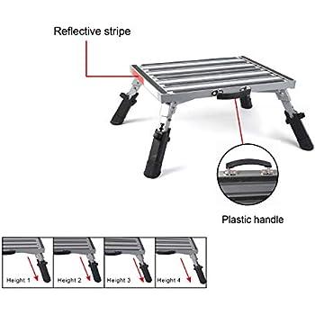 Amazon Com Camco Adjustable Height Aluminum Platform Step