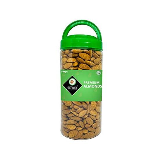 Spicy Carte Premium Almonds, 500gm