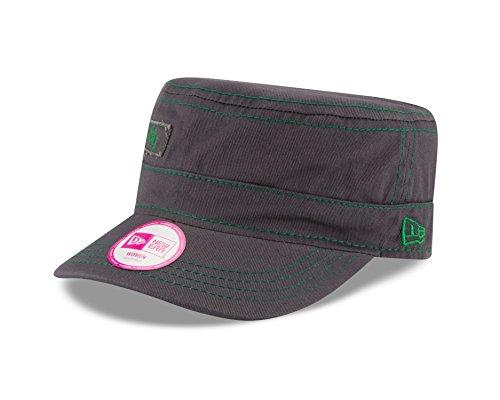 NBA Boston Celtics Women's Major Chic Adjustable Military Cap, One Size, Graphite (Boston Celtics Snap)