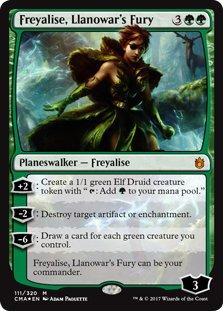 Wizards of the Coast Freyalise, Llanowar's Fury - Foil - Commander Anthology