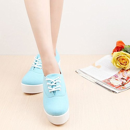 With KHSKX Shoes Bottom Thick White Thirty Slope seven Female Tie Shoes Shoes Waterproof Shoes n6fxn