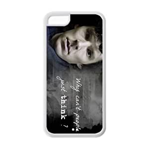 """Lmf DIY phone caseiphone 5c plastic and TPU protective cheap case cover with TV show """"sherlockLmf DIY phone case"""