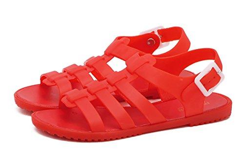 Favor de Punta 1 de Rosa Rojo Planas Playa 40 Mujer Agua Correa Casuales Slingback Verano Zapatos Elija 2 Gelatina Blanco Delgado Abierta El Rojo 36 Negro Tamaño Sandalias modelo Por Sandalia qzOTa4nw