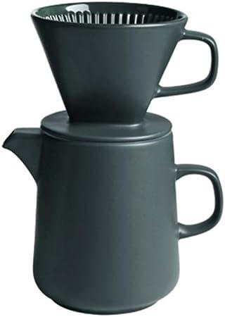 Cafetera de goteo Cafetera de mano Combinación de la mano Cafetera para enviar papel de filtro Conjunto de taza de filtro de cerámica retro, fácil de limpiar, para oficina en casa: Amazon.es: