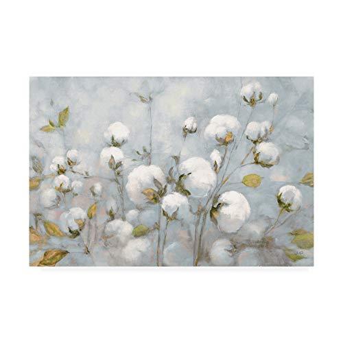 Trademark Fine Art Cotton Field Blue Gray by Julia Purinton, 16x24 - Fine Art Cotton Natural