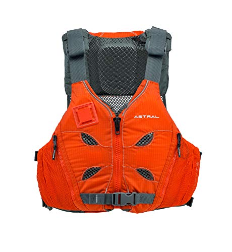 Astral V-Eight Life Jacket PFD for Recreation, Fishing and Touring Kayaking, Burnt Orange, Medium/Large