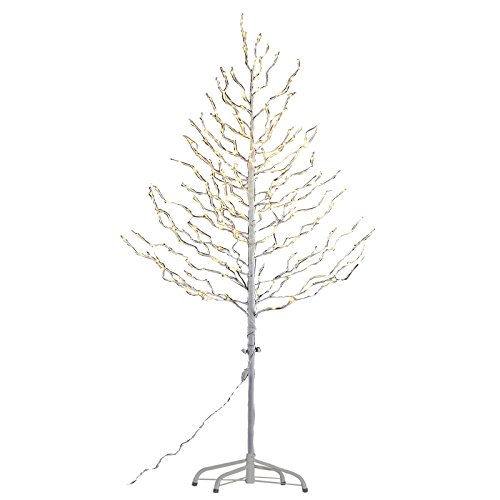 Lightshare Lighted Tree 240W, 6', White (Stick Tree With Lights)