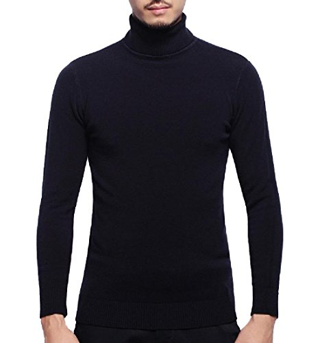 cheap GodeyesMen Godeyes Mens Solid Long Sleeve High Neck Knit Pullover Top Sweater get discount