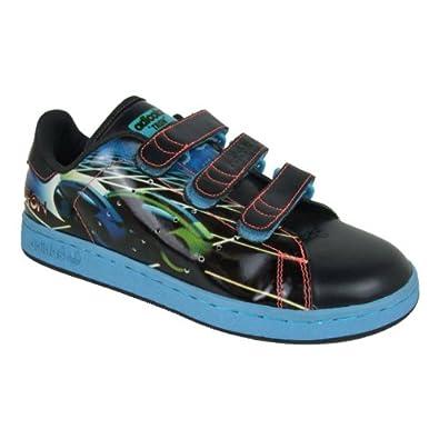 Hombre Adidas CF Originals Stan Smith 2 CF Adidas Tron Velcro Trainer Negro b053ef