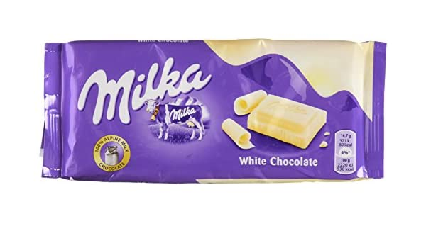 Milka - Tableta de chocolate blanco 100gr: Amazon.es: Alimentación y bebidas