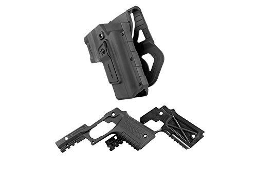 Recover Tactical HC11 1911 Active Retention Holster and CC3H Grip & Rail System for The 1911 Combo Pack (Black Holster + Black Grips, - 1911 Grips Tactical