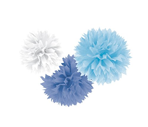 Boy Fluffy Baby Shower Hanging Decorations -