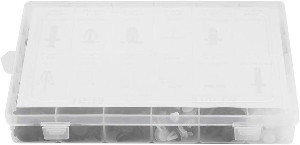 Hlyjoon Plastic Fastener 370Pcs Car Door Card Panel Trim Clips Kit Assorted Bumper Fixed Clamp Fastener Retainer Clip Push Pin Trim Rivet for Universal