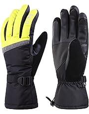 MCTi Womens Ski Gloves Touchscreen Waterproof Winter Warm Snow Snowboard Gloves Wrist Straps
