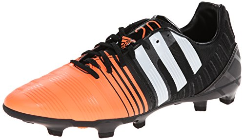 adidas Performance Men's Nitrocharge 2.0 Firm-Ground Soccer Cleat, Core Black/Running White/Flash Orange, 11.5 M US