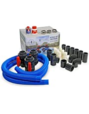 Pool total Bypass Juego de Universal, adaptador para piscina de calefacción/Bomba de calor/piscina solar de calefacción
