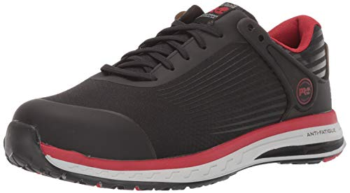 Timberland PRO Men's Drivetrain Composite Toe EH Industrial Boot, Black/Red, 10 M US ()