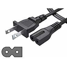 [UL LISTED] Pwr+ NEMA 1-15P to IEC320C7 Short 3 Ft (1 meter) 2 Prong Polarized Power Cord for Arris Router Modem; Vizio, Sharp Sanyo Emerson TV; Sony PlayStation 1 2 PS1 PS2; Bose Companion 3 5 Speaker Audio System AC Wall Cable