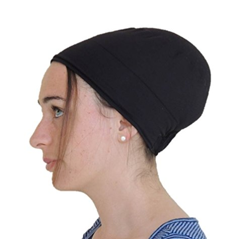 Sara Attali Design Tichel Volumizer & Anti Slip Headband Headcovering Headscarf Black