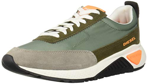 Diesel Men's SKB S-KB Low LACE-Sneakers, Lily pad/Olive Night, 8 M US