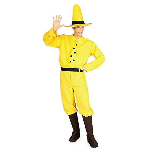 Rubie's Costume Curious George Man In The Hat, Yellow, One Size (Monkey Halloween Costume For Adults)