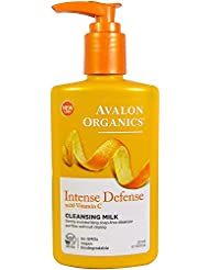 Avalon Organics, Intense Defense with Vitamin C, Cleansing Milk, 8.5 fl oz (251 ml)