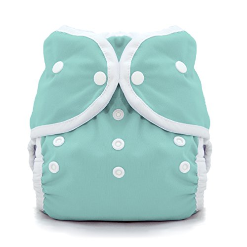 (Thirsties Duo Wrap Cloth Diaper Cover- Snap - Aqua - Size 2)