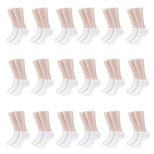 Women's Low Cut No-Show Fit Socks,Value Pack of 18 Pairs, Sock Size 9-11, Shoe Size 4-10.5 by Sockletics