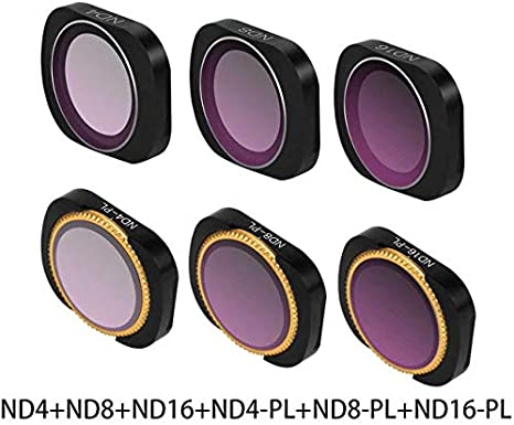 MeterMall MCUV CPL NDPL ND64-PL ND32-PL ND4 ND8 Camera Lens Filter Kit for DJI OSMO Pocket Gimbal Accessories CPL+ND8+ND16