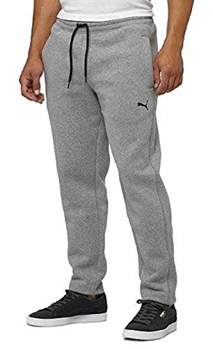 Puma Athletic Fleece Pants for Men (Small, Gray Heather)