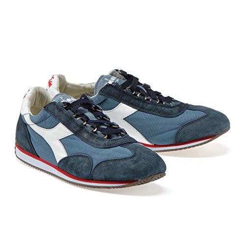 C4802 Diadora Sneakers E Heritage Uomo Blu Cina Profondo Stone blu 12 Wash Per Donna Equipe v4avwqS