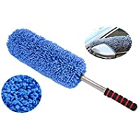 VRT Microfiber Retractable Type Round Car Cleaning Duster Brush Mop for All Cars (Blue)