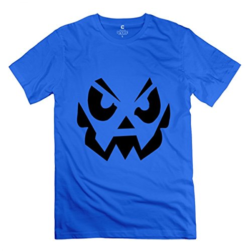 LiaoYang Halloween Helloween Royal Blue Adult Standard Weight T-Shirt for Men -
