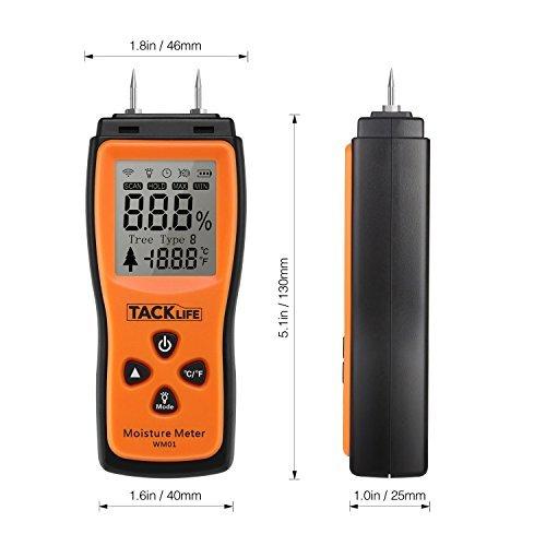 Humidimètre du Bois Tacklife WM01 Classique Détecteur d humidité Testeur  d humidité pour Mesurer e60a861e1c3