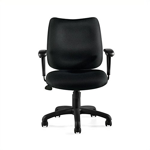 Offices to Go Tilter Chair with Arms in Black ()