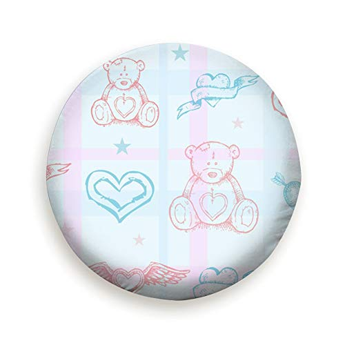 Cool pillow Tire Cover Baby Teddy Bear Clip Art Polyester Universal Spare Wheel Tire Cover Wheel Covers Jeep Trailer Rv SUV Truck Camper Travel Trailer Accessories