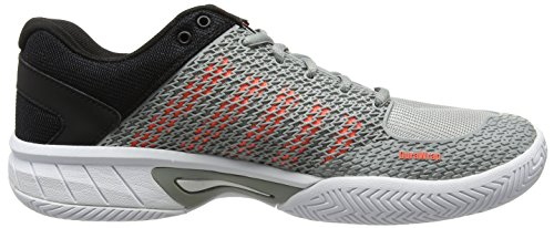 K-Swiss Performance Express Light, Zapatillas de Tenis para Hombre Gris (Highrise/black/neon Blaze)
