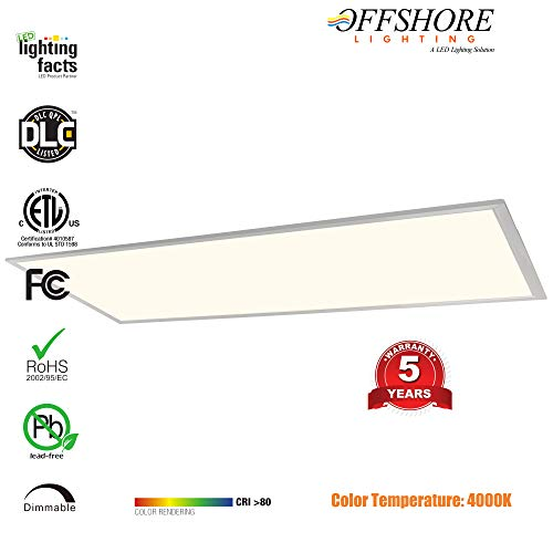 LED Troffer Panel Light 2X4 FT 40W 4000K 4100 Lumens 0-10V Dimmable,PMMA LGP Recessed Edge-Lit Troffer fixtures, UL & DLC Qualified,5 Years Warranty - by Offshore Lighting