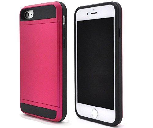 着服療法また明日ねPLATA iPhone 7 / iPhone 8 ケース スライド 式 カード ホルダー 付き ケース カバー iPhone アイフォン 7 8 【 ビビッドピンク ピンク pink 】 IP7-5060VP