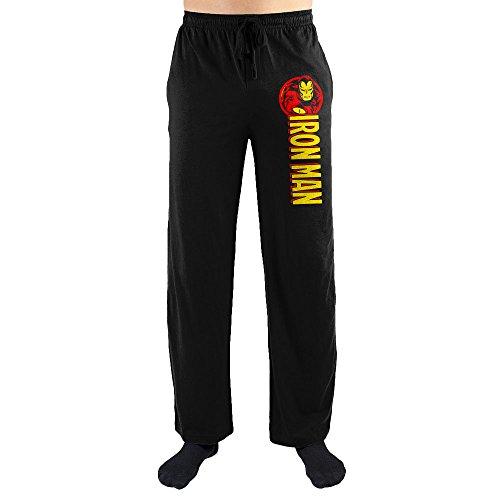 Iron Man Onesie Adults (Marvel Comics Iron Man Print Men's Sleepwear Sleep Lounge Pants Gift)
