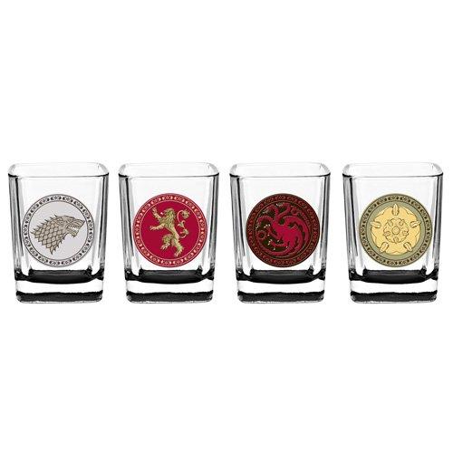 Game of Thrones House Sigil Shot Glass Set (Set of 4) by Rabbit Tanaka (Image #1)